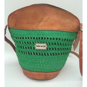 Mazzi Bucket (Available Natural, Brown, yellow, orange, khaki /Tan brown leather finishing)