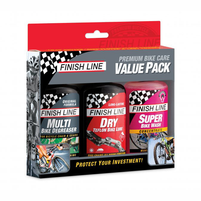 Kit Cuidado Bicicleta Finish Line Premium Value Pack