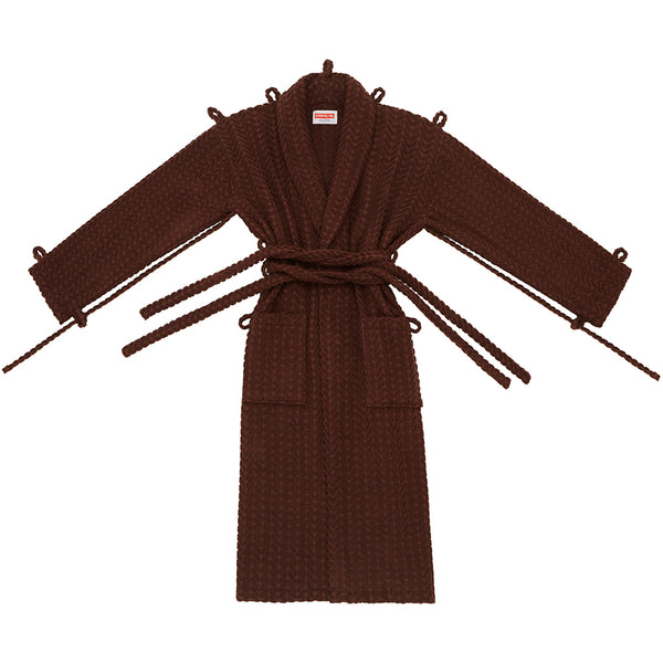 London Robe in Brown Herringbone - Shop The Standard
