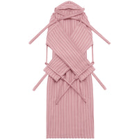 London Robe in Pink Pinstripe - Shop The Standard