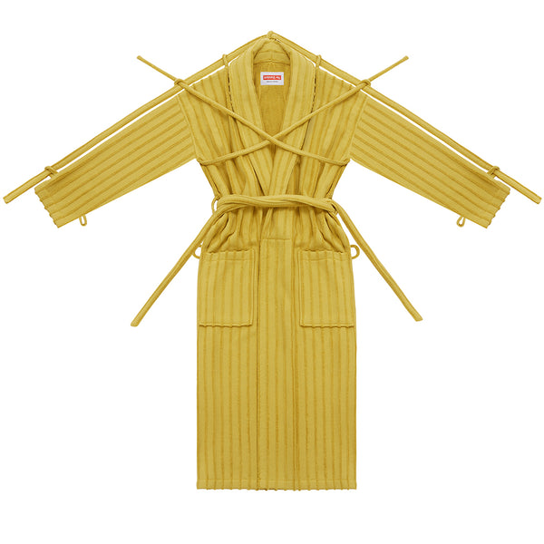 London Robe in Yellow Pinstripe - Shop The Standard