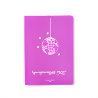 Disco Globe Passport Holder Purple