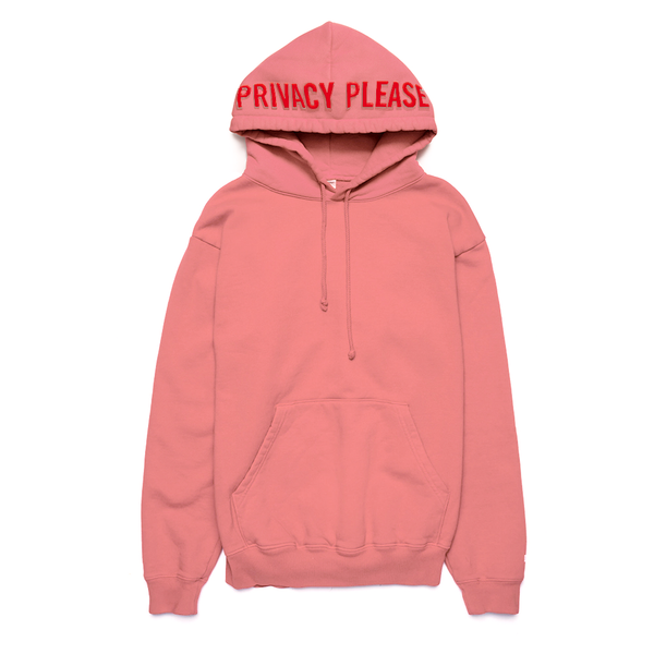 Privacy Please Puff Print Hoodie Pink - Shop The Standard