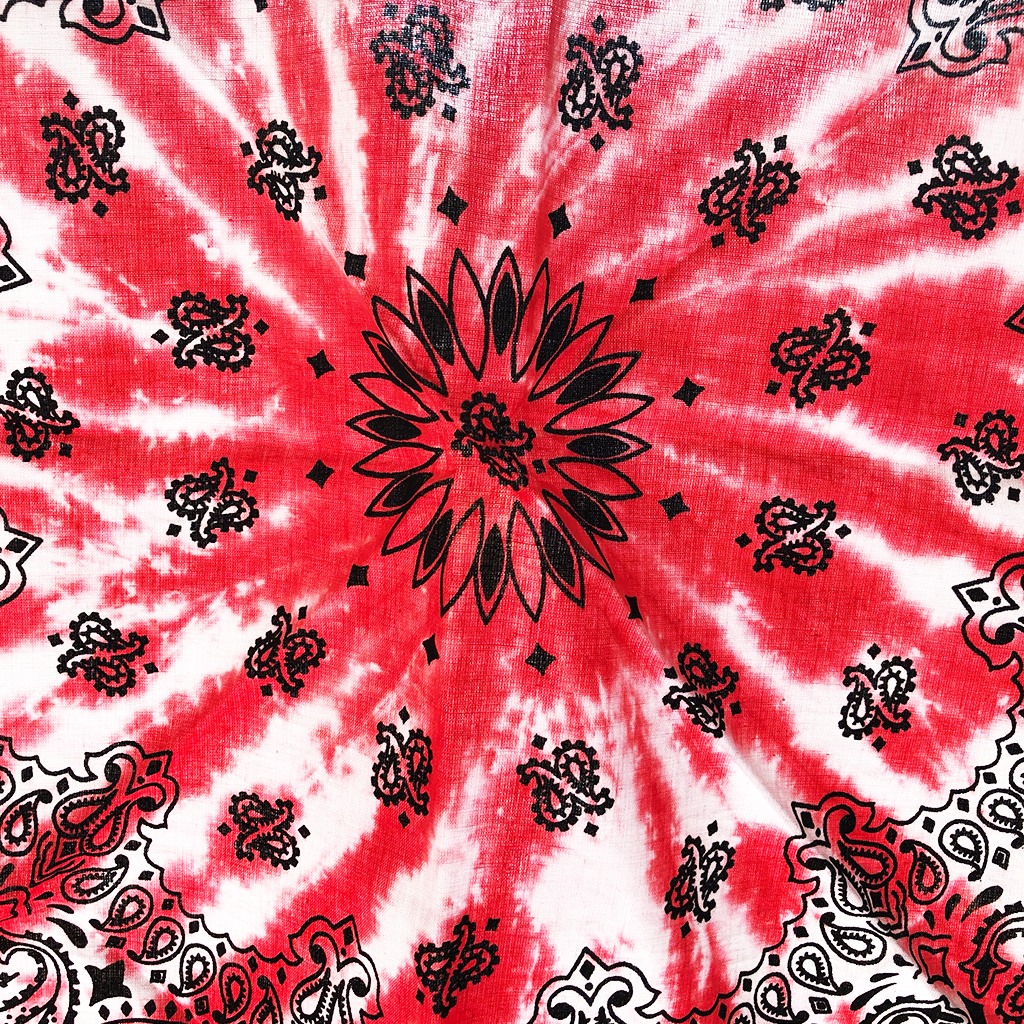 Standard Red Hand Dyed Cotton Bandana - Shop The Standard