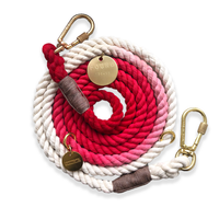 Standard Red Ombre Cotton Rope Dog Leash - Shop The Standard