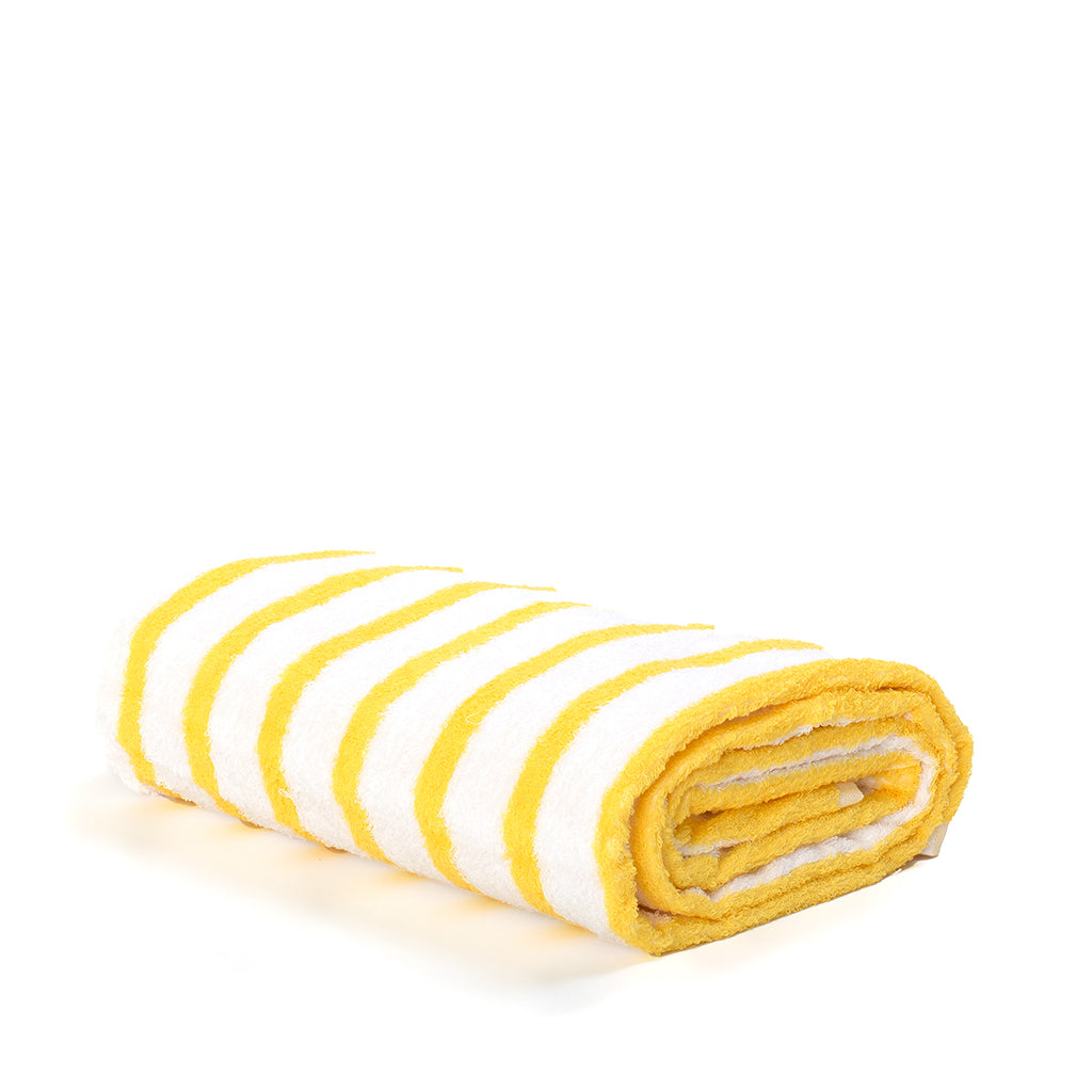 Miami Yellow Striped Beach Towel - Shop The Standard