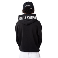 Privacy Please Embroidered Hoodie Black - Shop The Standard