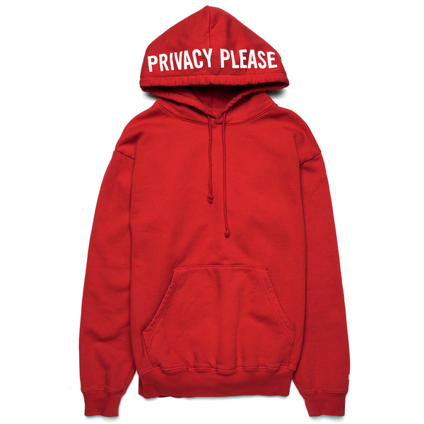 Privacy Please Hoodie Red - Shop The Standard