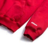 Privacy Please Hoodie Red