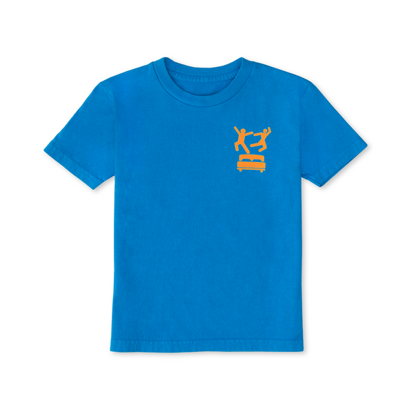 Pillow Fight Kids T-Shirt Mini Bar Blue