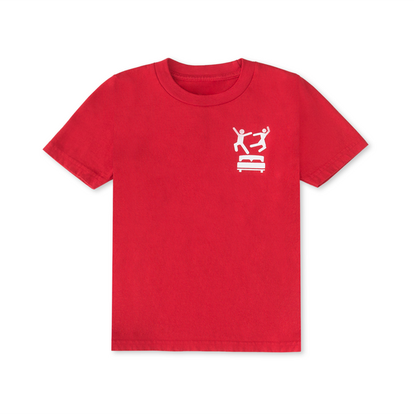 Pillow Fight Kids T-Shirt Red