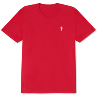 Lip Head Embroidered T-Shirt Red - Shop The Standard
