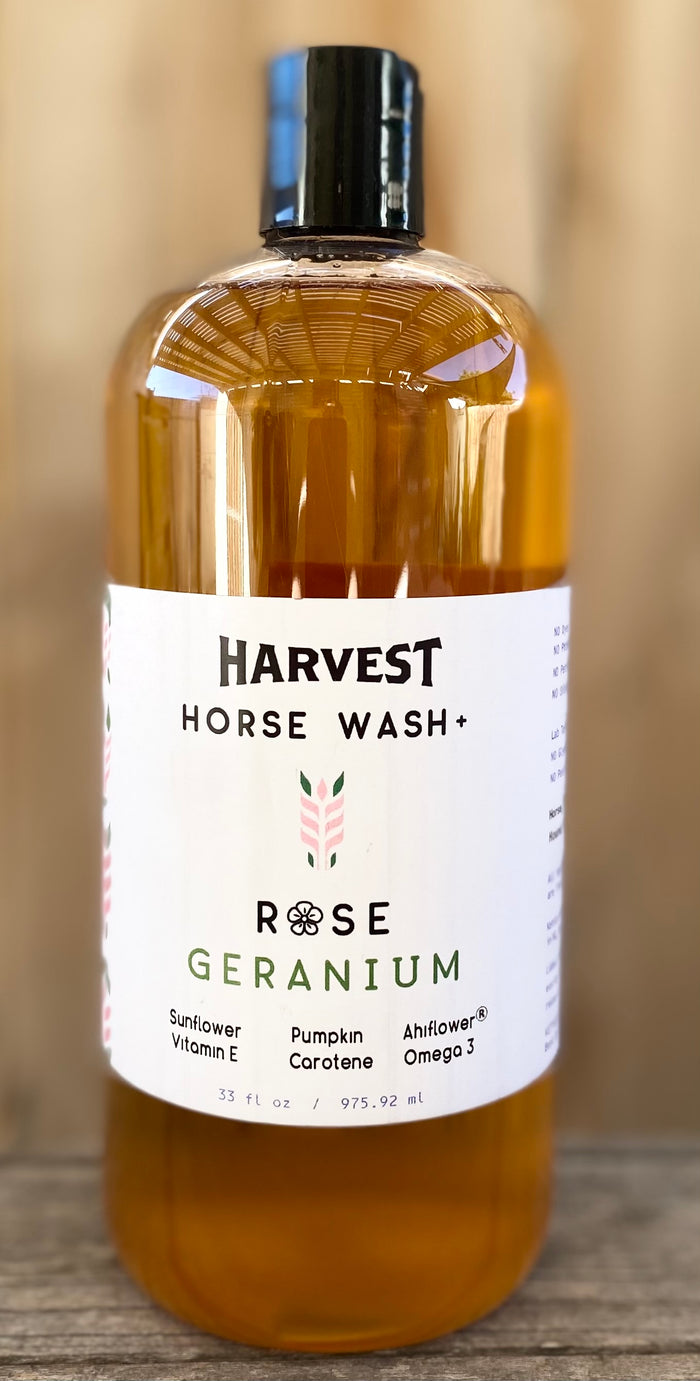 HARVEST Horse Wash+ (Rose Geranium)