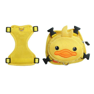 Frenchie Corner® Ducky Dog Backpack Harness Set