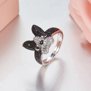 Frenchie Corner® 925 Sterling Silver Ring with Zircons