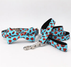 Frenchie Corner® Ladybird Printer Collar, Leash & Bowtie
