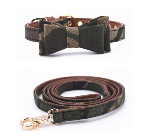 Frenchie Corner® Bowknot Collar & Leash