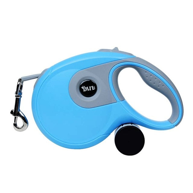 Frenchie Corner® Retractable Automatic Leash with Poop Bag Holder