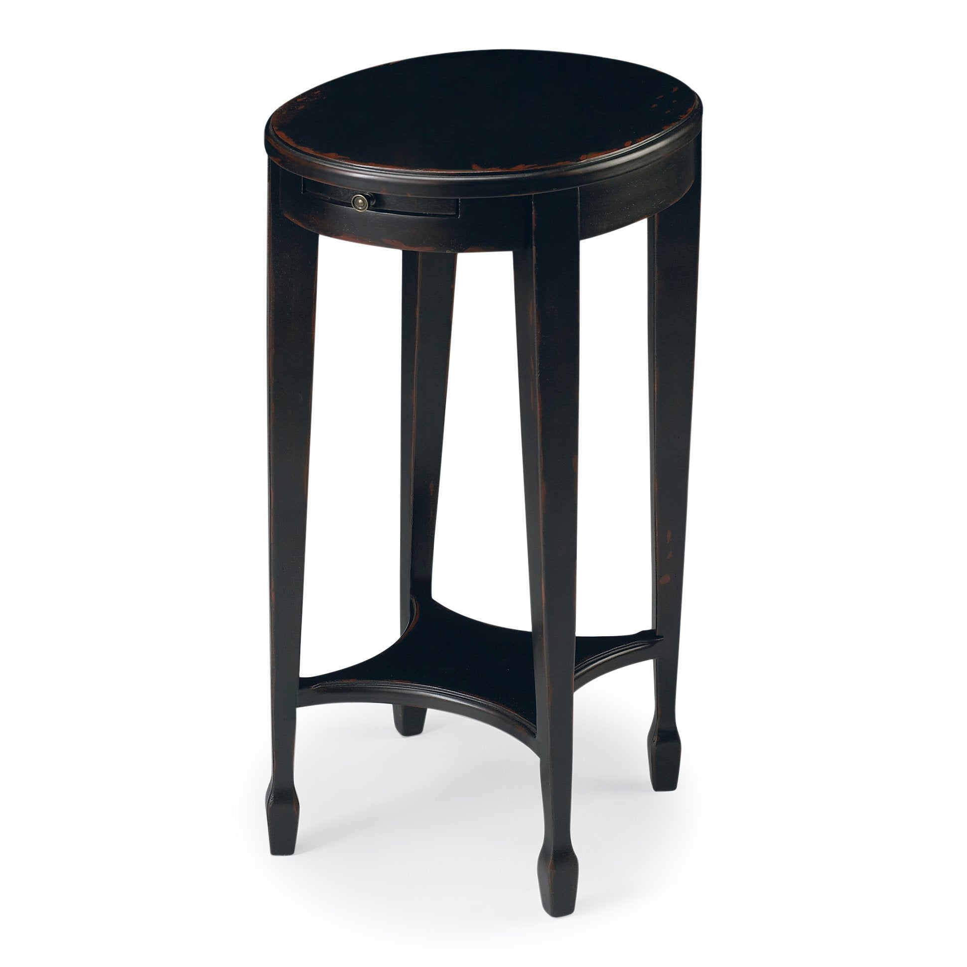 Arielle Plum Black Accent Table