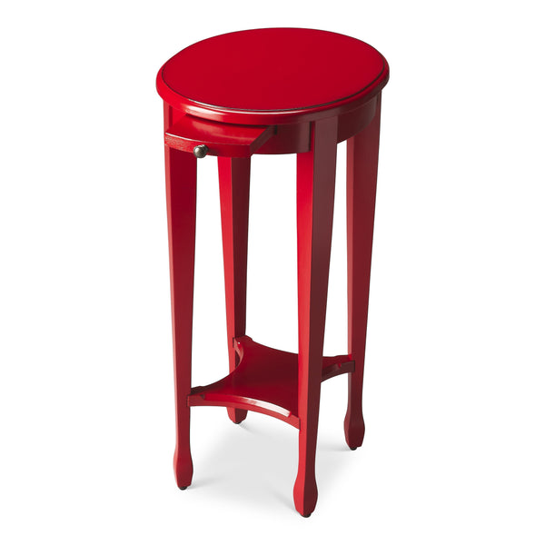Arielle Red Round Accent Table