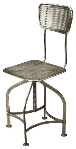 Pershing Industrial Chic Swivel Chair