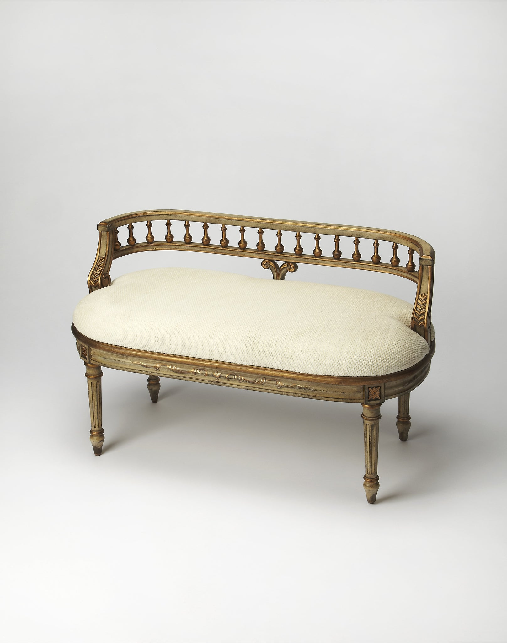Mansfield Guilded Cream Bench
