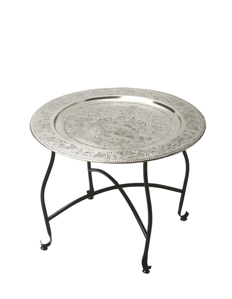 Agadir Metal Moroccan Tray Table