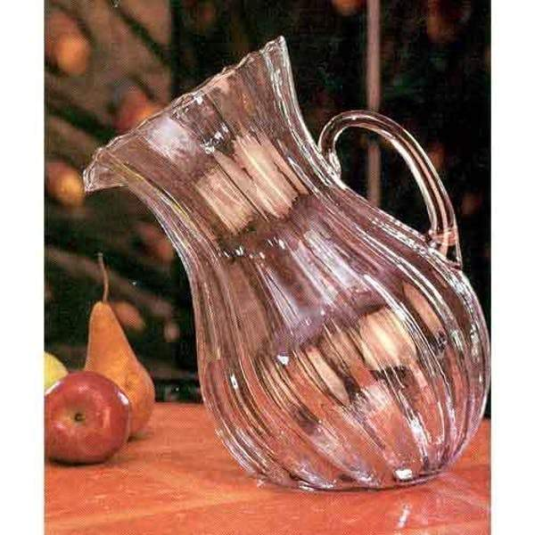 Ribbed Tilted Pitcher