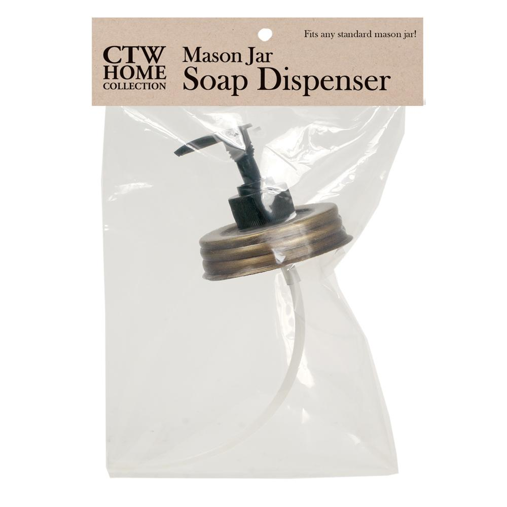 Mason Jar Soap Dispenser Lid - Antique Brass - Box of 4