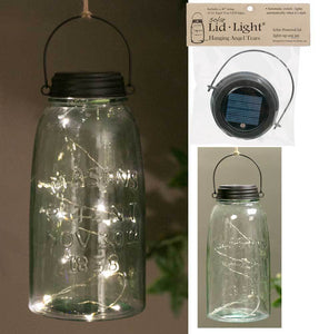Hanging Solar Lid Light - Angel Tears - Rustic Brown - Box of 4