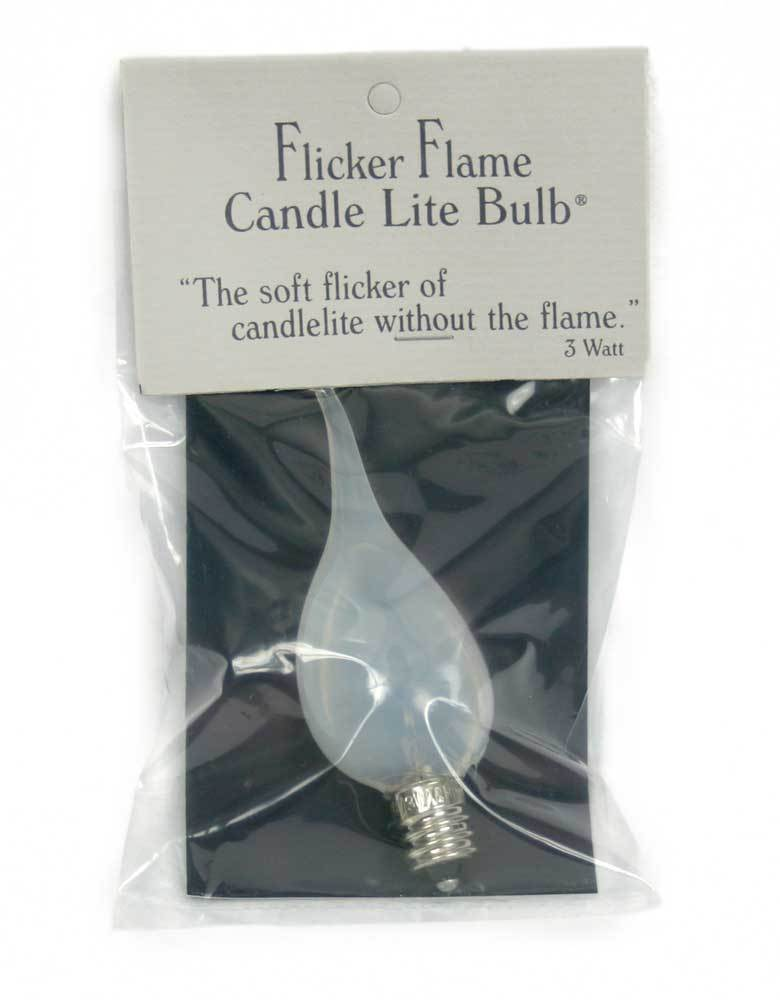 3 Watt Flicker-Flame Candle-Lite Light Bulb - Box of 12
