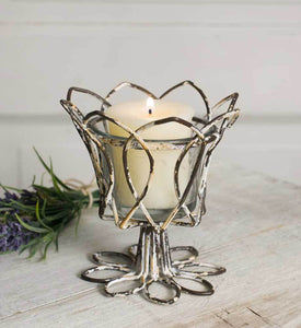 Tulip Votive Holder with Glass - Box of 4