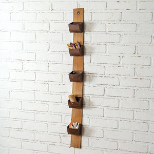 Hanging Utility Belt Organizer with 5 Metal Pockets
