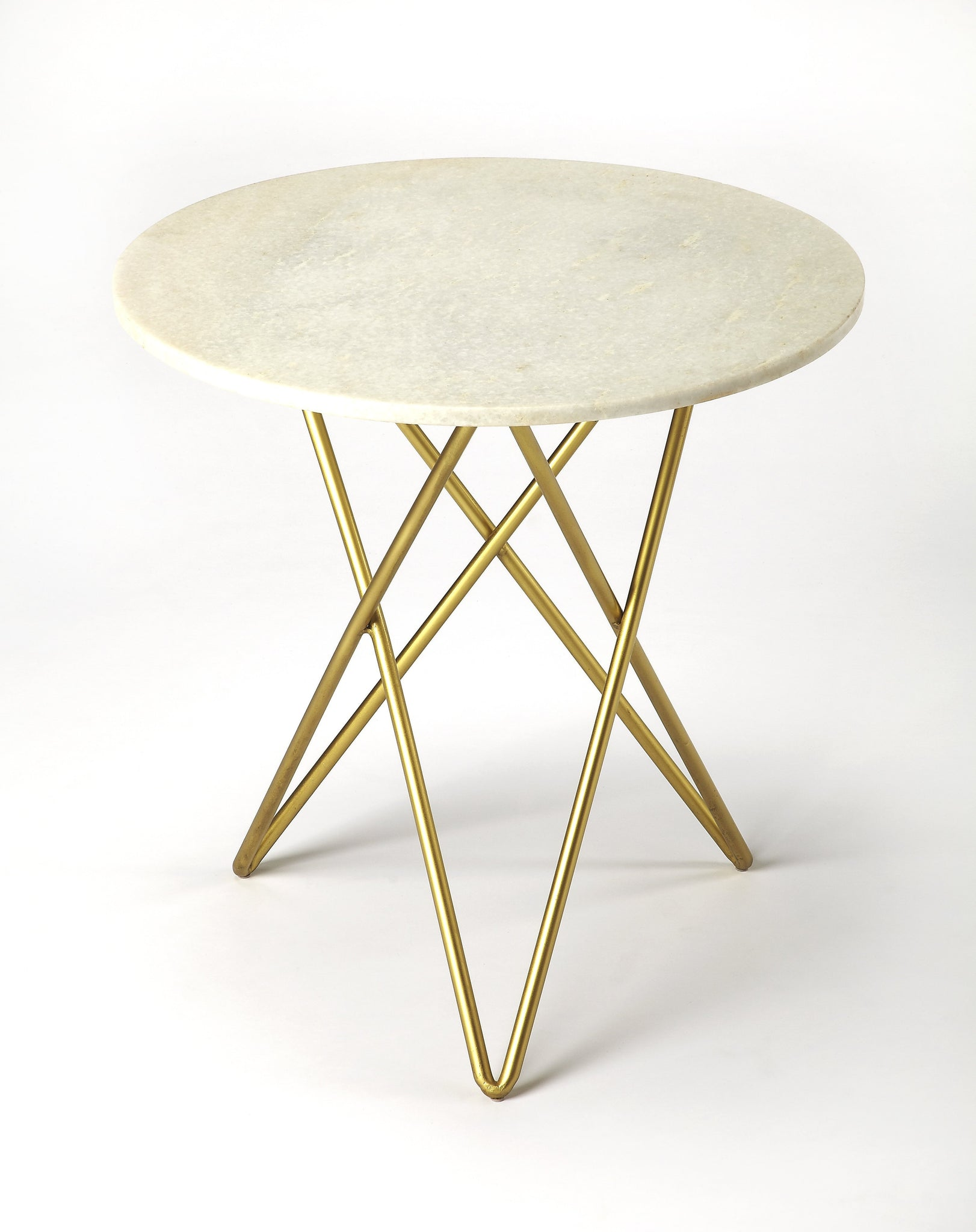 Quantum White Marble Bunching Table
