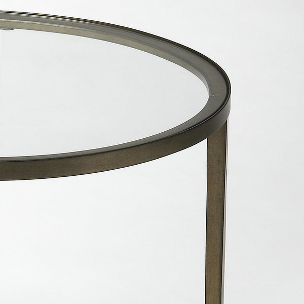 Monica Gold Oval End Table