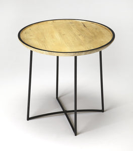 Brooke Iron & Wood Accent Table