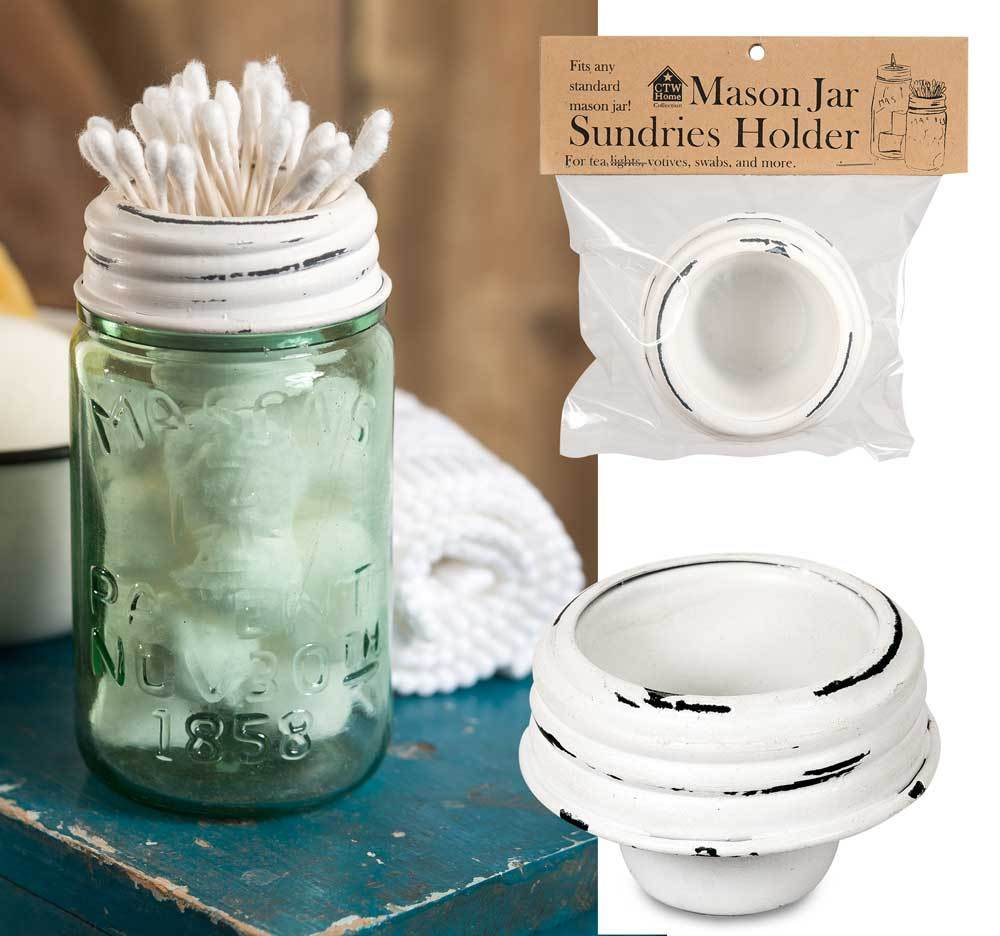 Mason Jar Tapered Cup Lid - White - Box of 4