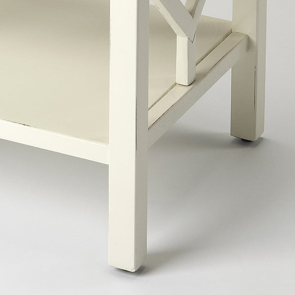 Halcyon White End Table