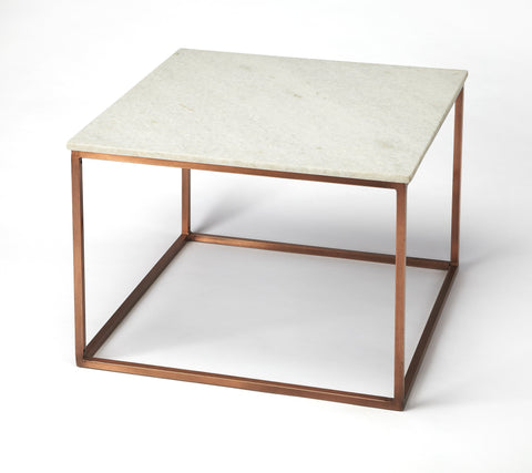 Holland Marble & Metal Coffee Table