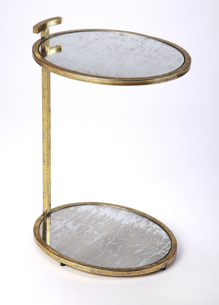 Ciro Gold Metal & Mirror Side Table