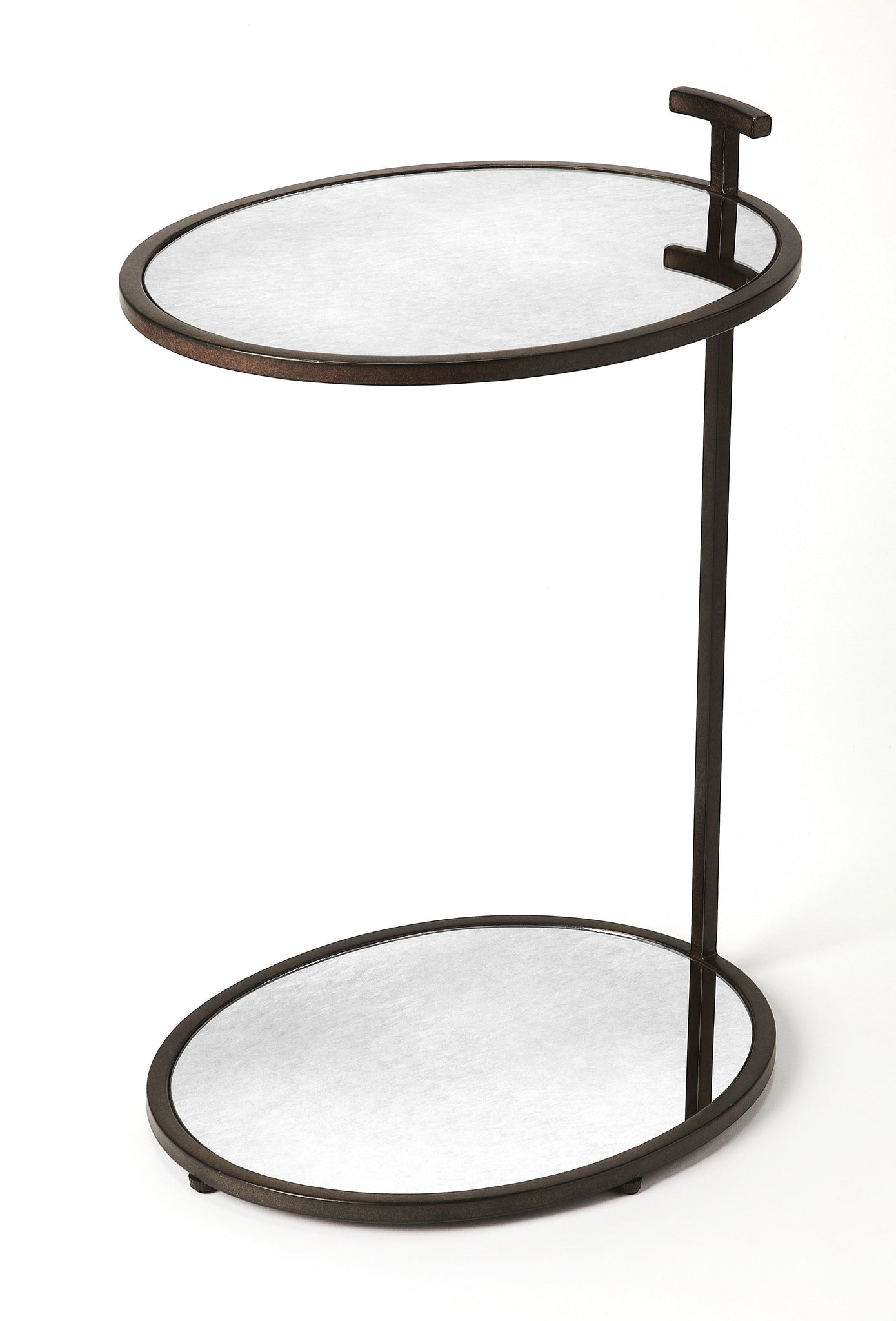 Ciro Mirror & Metal Side Table