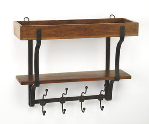 Lester Industrial Chic Wall Rack