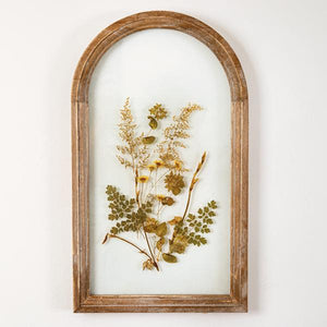 Brown Arched Botanical Wall Décor