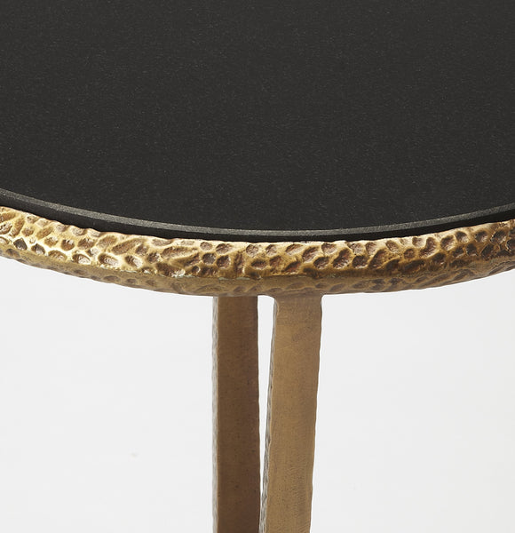 Flavio Metal & Stone End Table