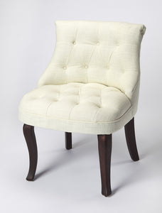 Mona Linen Slipper Chair