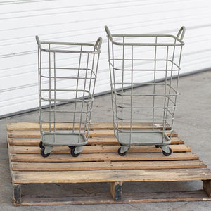 Set of Two Heavy Duty Rolling Storage Baskets