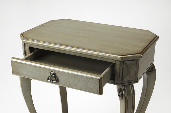 Channing Silver Satin Console Table