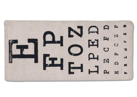 Eye Chart Eye Glasses Case