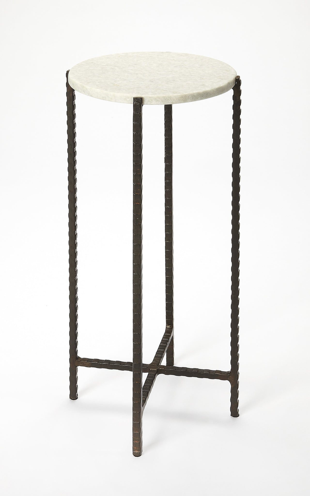 Nigella Round Marble & Metal Accent Table