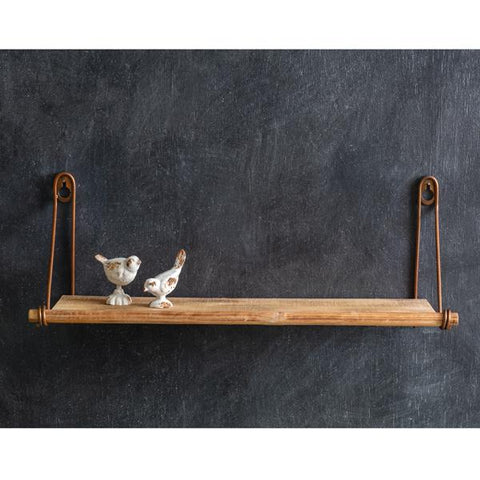 Wall Mounted Wooden Wall Shelf